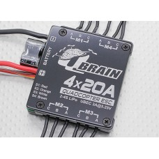Q Brain 4 x 20A Brushless Quadcopter ESC 2-4S 3A SBEC - UK stock