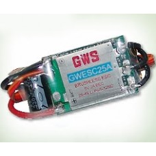GWS Brushless ESC 25A 2-4S 2A BEC - UK stock